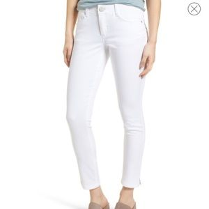 Wit and Wisdom white ankle skimmer denim jeans